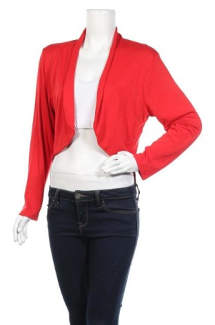 Дамска жилетка Lea H., Размер XL, Цвят Червен, 92% вискоза, 8% еластан, Цена 23,63лв.