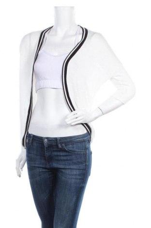 Дамска жилетка Total Girl, Размер S, Цвят Бял, 51% вискоза, 47% полиестер, 2% еластан, Цена 9,45лв.