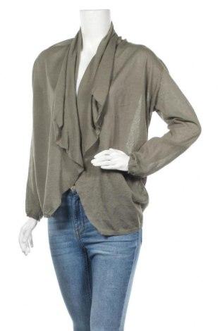 Дамска жилетка Zara, Размер M, Цвят Зелен, 87% вискоза, 13% полиестер, Цена 8,34лв.