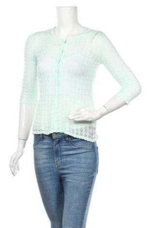 Γυναικεία ζακέτα Zara Kids, Μέγεθος S, Χρώμα Πράσινο, 69% βισκόζη, 18% πολυαμίδη, 13% λινό, Τιμή 10,23€