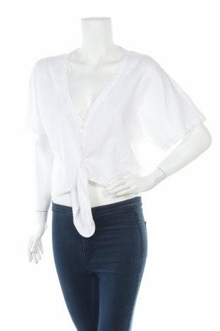 Дамска риза H&M L.O.G.G., Размер S, Цвят Бял, 52% лен, 48% памук, Цена 5,75лв.