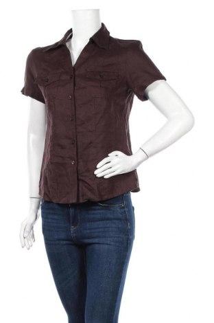 Γυναικείο πουκάμισο Joy, Μέγεθος M, Χρώμα Καφέ, Λινό, Τιμή 7,01€