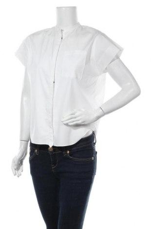 Γυναικείο πουκάμισο Noa Noa, Μέγεθος L, Χρώμα Λευκό, 59% βαμβάκι, 38% πολυεστέρας, 3% ελαστάνη, Τιμή 20,46€