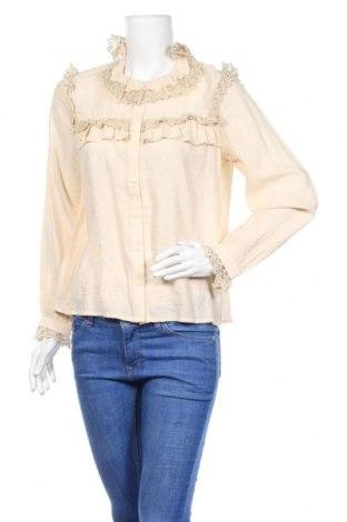 Дамска риза Object, Размер M, Цвят Бежов, 80% вискоза, 20% полиамид, Цена 19,47лв.