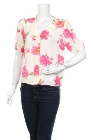 Γυναικείο πουκάμισο Pieces, Μέγεθος M, Χρώμα Εκρού, Βισκόζη, Τιμή 2,50€