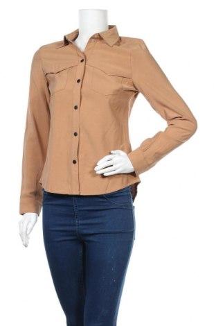 Дамска риза Vero Moda, Размер S, Цвят Кафяв, 92% вискоза, 8% полиестер, Цена 40,50лв.