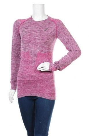 Дамска спортна блуза ASICS, Размер S, Цвят Розов, 49% полиестер, 43% памук, 8% еластан, Цена 16,50лв.