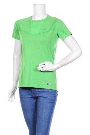 Γυναικείο t-shirt Adidas, Μέγεθος L, Χρώμα Πράσινο, 100% πολυεστέρας, Τιμή 22,73€