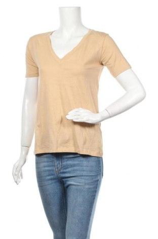 Дамска тениска Amisu, Размер XS, Цвят Бежов, Цена 16,96лв.