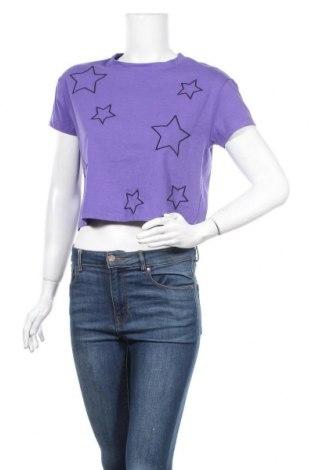 Дамска тениска Bluenotes, Размер S, Цвят Лилав, 60% памук, 35% полиестер, 5% еластан, Цена 20,95лв.