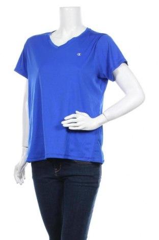 Γυναικείο t-shirt Champion, Μέγεθος XL, Χρώμα Μπλέ, Τιμή 11,11€