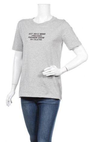 Дамска тениска Jacqueline De Yong, Размер S, Цвят Сив, 90% памук, 10% вискоза, Цена 13,60лв.