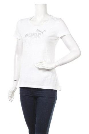 Γυναικείο t-shirt PUMA, Μέγεθος M, Χρώμα Λευκό, Βαμβάκι, Τιμή 14,85€