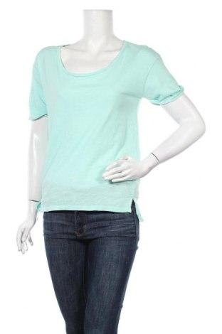 Дамска тениска United Colors Of Benetton, Размер S, Цвят Син, Памук, Цена 14,50лв.
