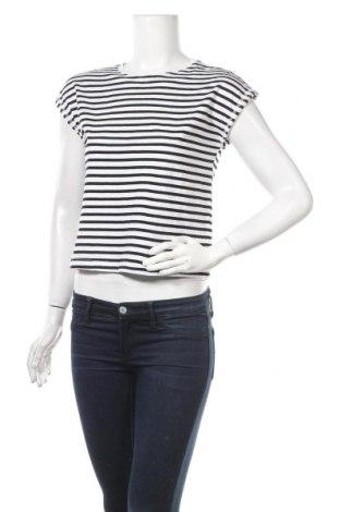 Дамска тениска Zara, Размер XS, Цвят Син, Памук, Цена 18,00лв.
