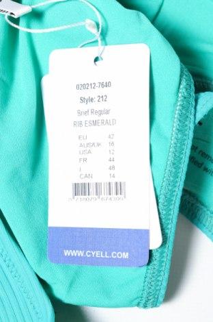 Дамски бански Cyell, Размер L, Цвят Зелен, 91% полиестер, 9% еластан, Цена 16,80лв.