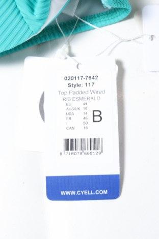 Дамски бански Cyell, Размер XL, Цвят Зелен, 91% полиамид, 9% еластан, Цена 19,60лв.