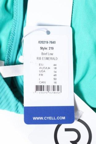 Дамски бански Cyell, Размер XL, Цвят Зелен, 91% полиамид, 9% еластан, Цена 23,10лв.