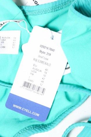 Дамски бански Cyell, Размер M, Цвят Зелен, 91% полиамид, 9% еластан, Цена 23,10лв.