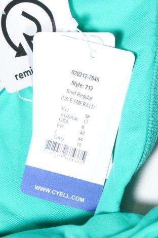 Дамски бански Cyell, Размер M, Цвят Зелен, 91% полиамид, 9% еластан, Цена 16,80лв.