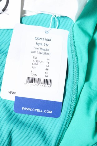 Дамски бански Cyell, Размер XL, Цвят Зелен, 91% полиамид, 9% еластан, Цена 11,76лв.