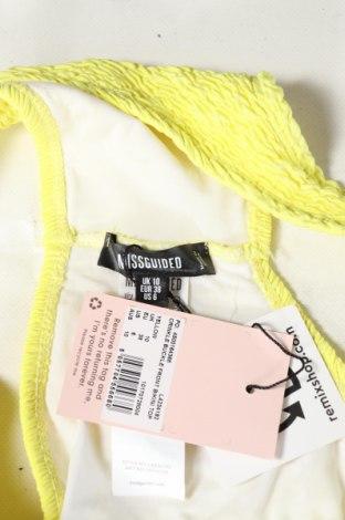 Дамски бански Missguided, Размер M, Цвят Жълт, 93% полиестер, 7% еластан, Цена 16,82лв.