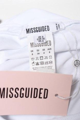 Дамски бански Missguided, Размер S, Цвят Бял, 82% полиамид, 18% еластан, Цена 21,75лв.