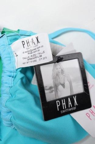 Дамски бански Phax, Размер L, Цвят Син, 84% полиамид, 16% еластан, Цена 21,07лв.