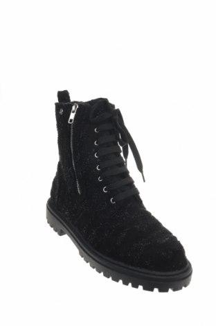 Γυναικεία μποτάκια Camomilla, Μέγεθος 40, Χρώμα Μαύρο, Κλωστοϋφαντουργικά προϊόντα, Τιμή 13,85€