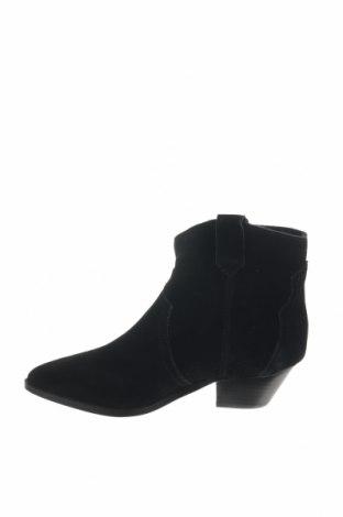 Γυναικεία μποτάκια Reserved, Μέγεθος 38, Χρώμα Μαύρο, Φυσικό σουέτ, Τιμή 12,27€