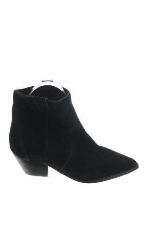 Γυναικεία μποτάκια Reserved, Μέγεθος 37, Χρώμα Μαύρο, Φυσικό σουέτ, Τιμή 12,27€