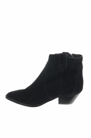 Γυναικεία μποτάκια Reserved, Μέγεθος 37, Χρώμα Μαύρο, Φυσικό σουέτ, Τιμή 14,11€