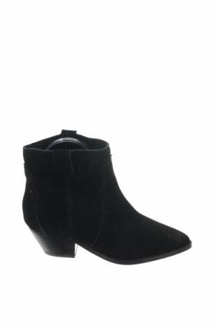 Γυναικεία μποτάκια Reserved, Μέγεθος 36, Χρώμα Μαύρο, Φυσικό σουέτ, Τιμή 12,27€