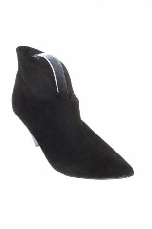 Дамски боти Reserved, Размер 41, Цвят Черен, Естествен велур, Цена 81,75лв.