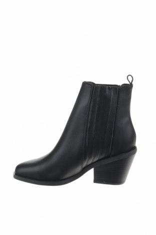 Γυναικεία μποτάκια Reserved, Μέγεθος 36, Χρώμα Μαύρο, Γνήσιο δέρμα, Τιμή 16,48€