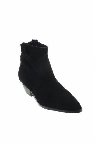 Дамски боти Reserved, Размер 36, Цвят Черен, Естествен велур, Цена 27,37лв.
