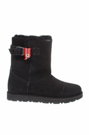 Γυναικείες μπότες Birkenstock, Μέγεθος 39, Χρώμα Μαύρο, Φυσικό σουέτ, Τιμή 63,59€