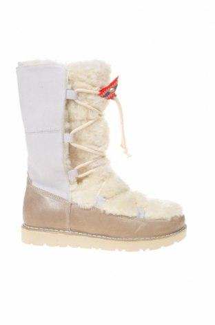 Γυναικείες μπότες Birkenstock, Μέγεθος 37, Χρώμα Λευκό, Γνήσιο δέρμα, φυσικό σουέτ, Τιμή 81,96€