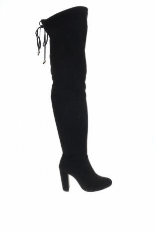 Γυναικείες μπότες Boohoo, Μέγεθος 40, Χρώμα Μαύρο, Κλωστοϋφαντουργικά προϊόντα, Τιμή 11,40€
