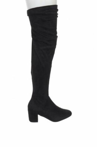 Γυναικείες μπότες Boohoo, Μέγεθος 41, Χρώμα Μαύρο, Κλωστοϋφαντουργικά προϊόντα, Τιμή 11,13€