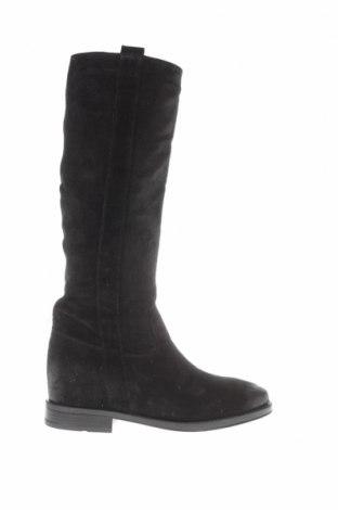Γυναικείες μπότες CAFèNOIR, Μέγεθος 37, Χρώμα Μαύρο, Φυσικό σουέτ, Τιμή 37,25€