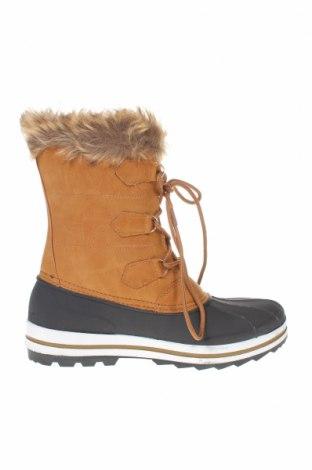 Γυναικείες μπότες Kimberfeel, Μέγεθος 40, Χρώμα Καφέ, Δερματίνη, Τιμή 36,52€