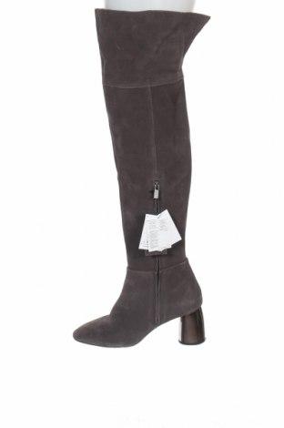 Γυναικείες μπότες Reserved, Μέγεθος 41, Χρώμα Γκρί, Φυσικό σουέτ, Τιμή 69,20€