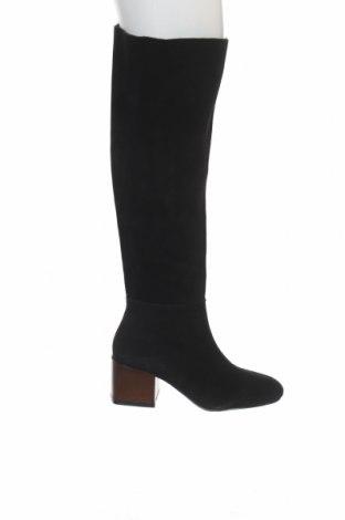 Cizme de damă Reserved, Mărime 36, Culoare Negru, Velur natural, Preț 156,58 Lei