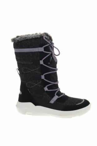 Γυναικείες μπότες Super Fit, Μέγεθος 39, Χρώμα Μαύρο, Φυσικό σουέτ, κλωστοϋφαντουργικά προϊόντα, Τιμή 44,54€