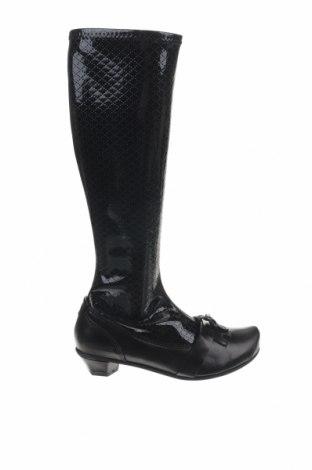 Cizme de damă Tiggers, Mărime 38, Culoare Negru, Poliuretan, piele naturală, Preț 201,71 Lei