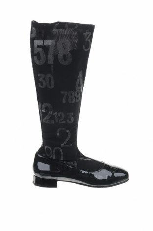 Γυναικείες μπότες Tiggers, Μέγεθος 40, Χρώμα Μαύρο, Κλωστοϋφαντουργικά προϊόντα, γνήσιο δέρμα, Τιμή 19,39€