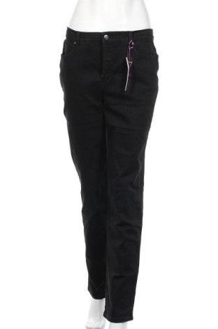 Дамски дънки Gloria Vanderbilt, Размер L, Цвят Черен, 78% памук, 20% полиестер, 2% еластан, Цена 26,46лв.