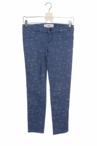 Дамски дънки Hollister, Размер XS, Цвят Син, 98% памук, 2% еластан, Цена 19,50лв.
