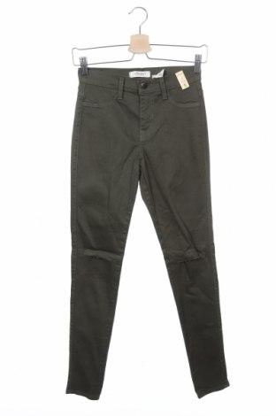 Дамски дънки Vibrant, Размер XS, Цвят Зелен, 98% памук, 2% еластан, Цена 14,18лв.